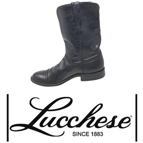 816615e2f92 Lucchese Lonestar Calf Roper Boots Men's Sz 9 B